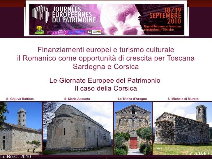 Le Giornate Europee del Patrimonio  Il caso della Corsica
