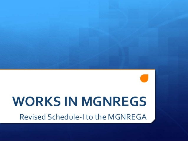 Works in mgnregs