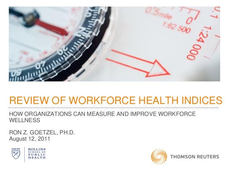 Worksite Wellnes Index with Ron Goetzel