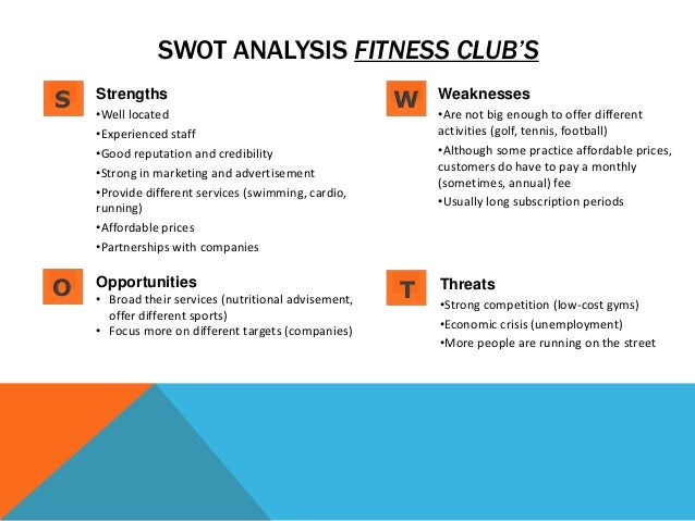 swot analysis for golf club