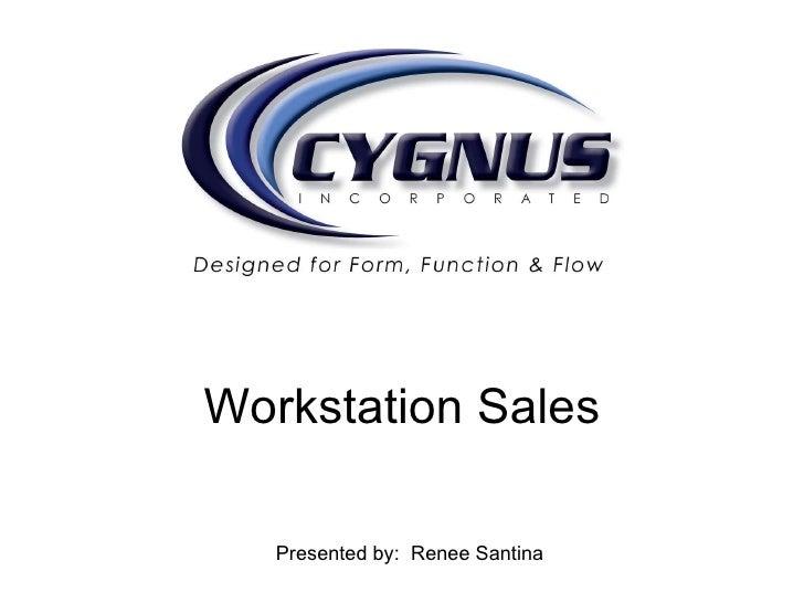Workstation Sales Presented by:  Renee Santina