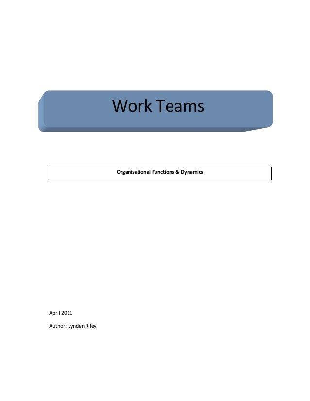 Work teams report