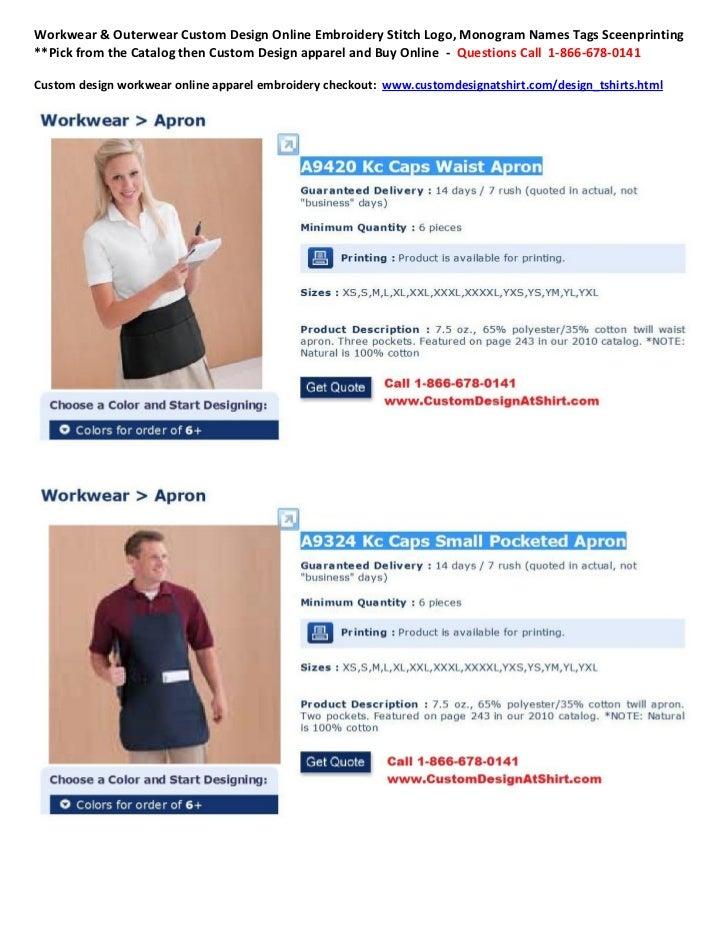 Workwear Outerwear Custom Design Online