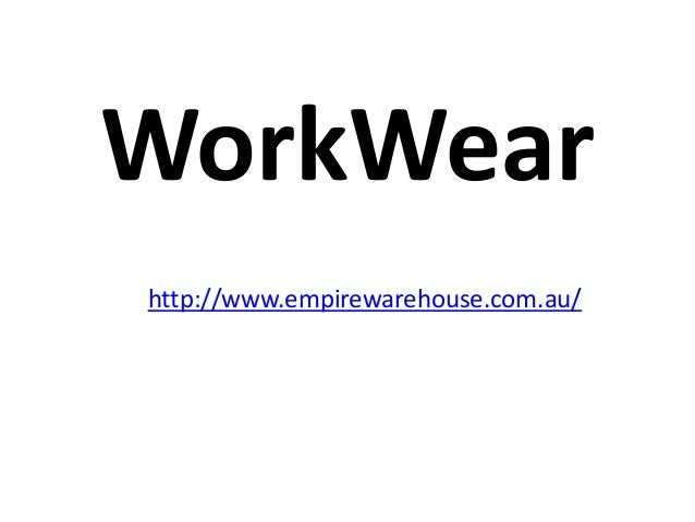 WorkWear ppt