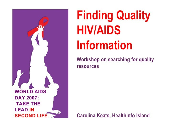 Finding Quality HIV/AIDS Information