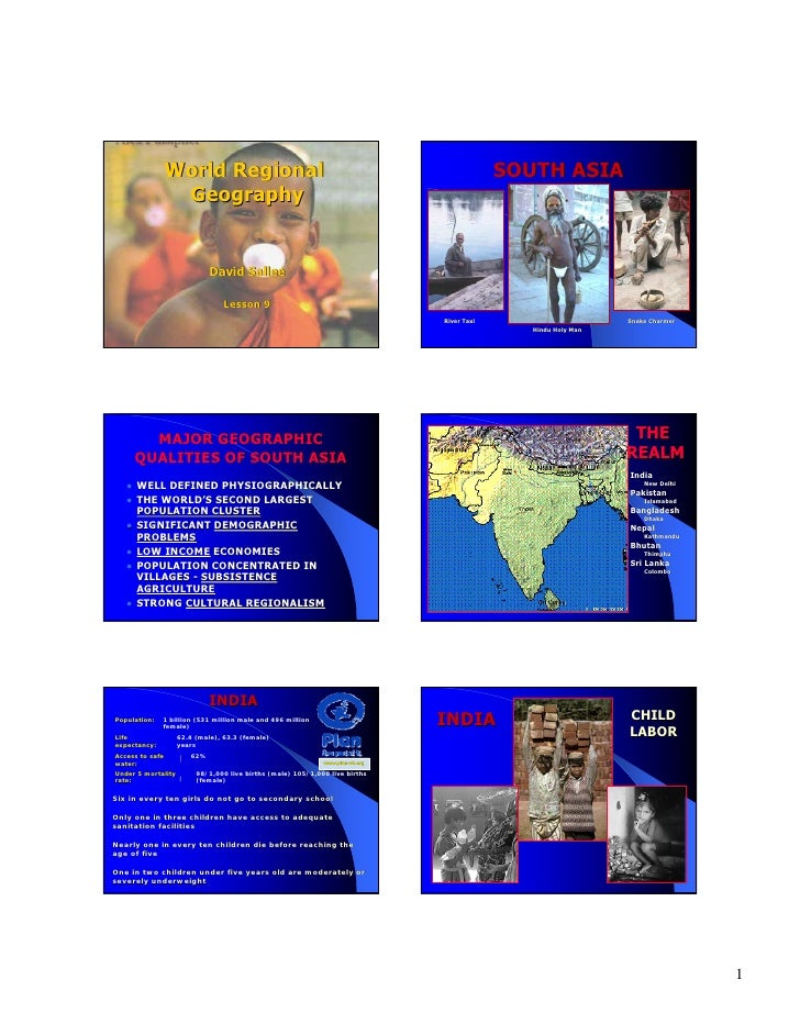 World Regional                                                             SOUTH ASIA                   Geography         ...