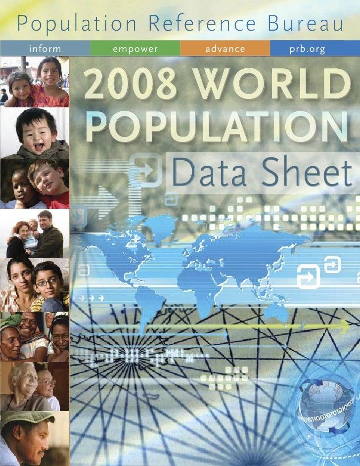 World Population Datasheet 2008