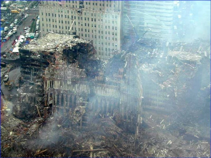 World Trade Center Site In New York In Sep.. Of 2001