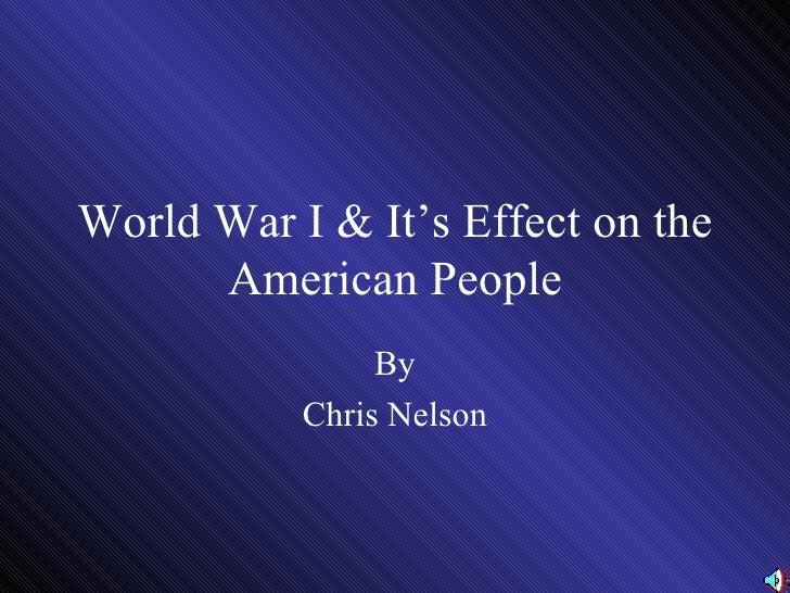 World  War  I &  American  Involvement