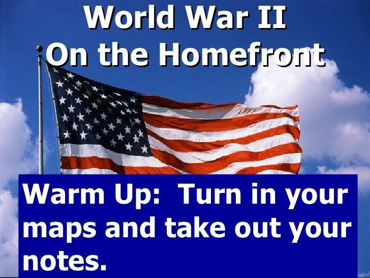 World  War  I I  Homefront  Power Point