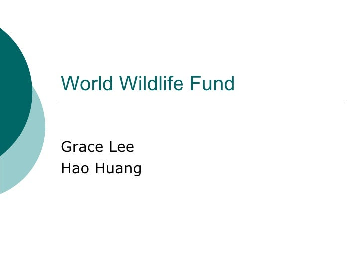 World Wildlife Fund Grace Lee Hao Huang