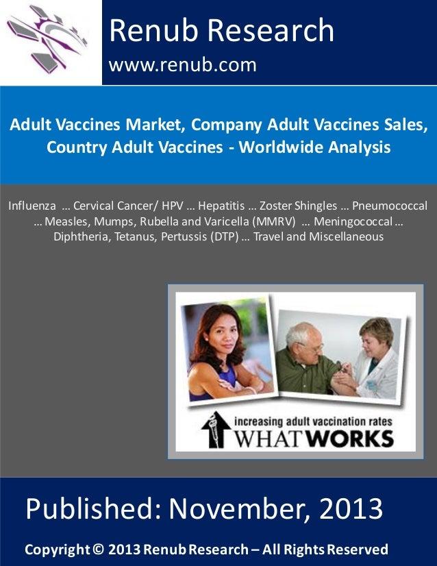 Renub Research www.renub.com Adult Vaccines Market, Company Adult Vaccines Sales, Country Adult Vaccines - Worldwide Analy...
