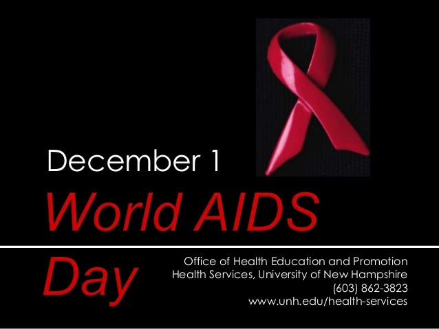 World AIDS Day at University of New Hampshire