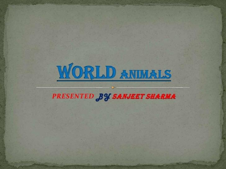 PRESENTED BYSANJEET SHARMA<br />WorldAnimals<br />