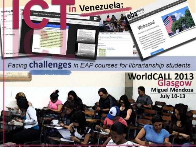 ICT in Venezuela: Facing challenges in EAP courses for librarianship students