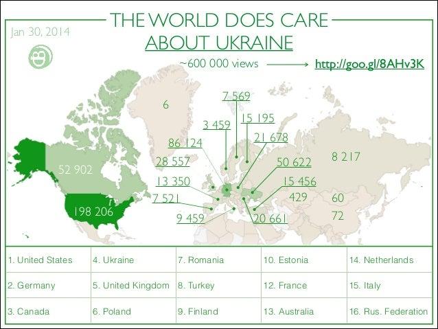 THE WORLD DOES CARE ABOUT UKRAINE  Jan 30, 2014  http://goo.gl/8AHv3K  ~600 000 views 7 569  6  3 459 52 902 198 206  1. ...