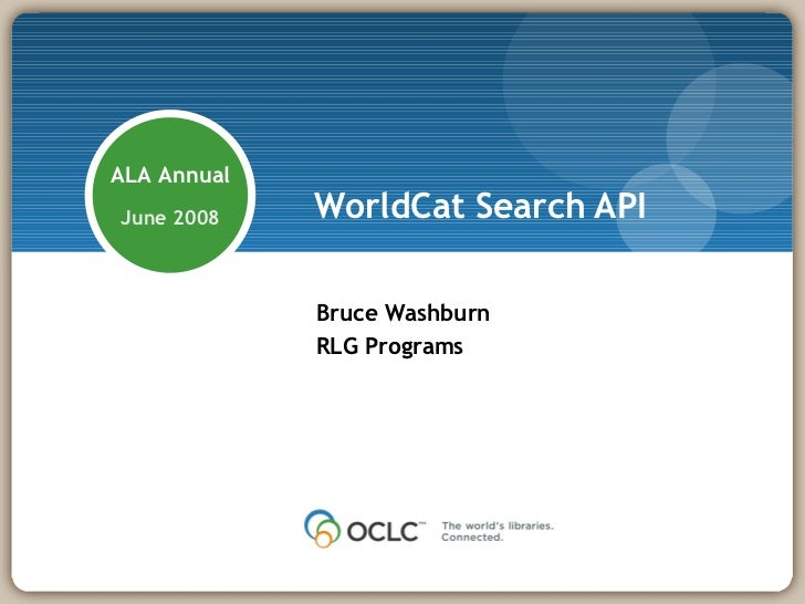 WorldCat Search API