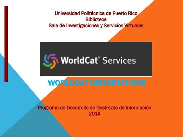 Worldcat Dissertations