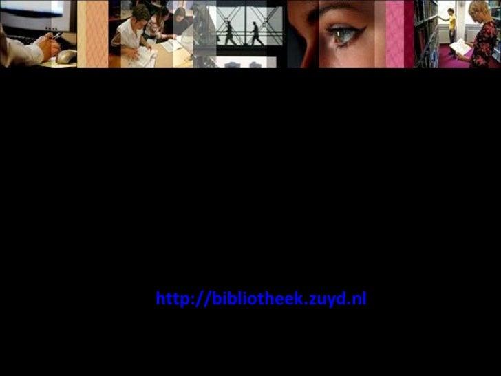http://bibliotheek.zuyd.nl Zoeken naar tijdschriftartikelen in WorldCat