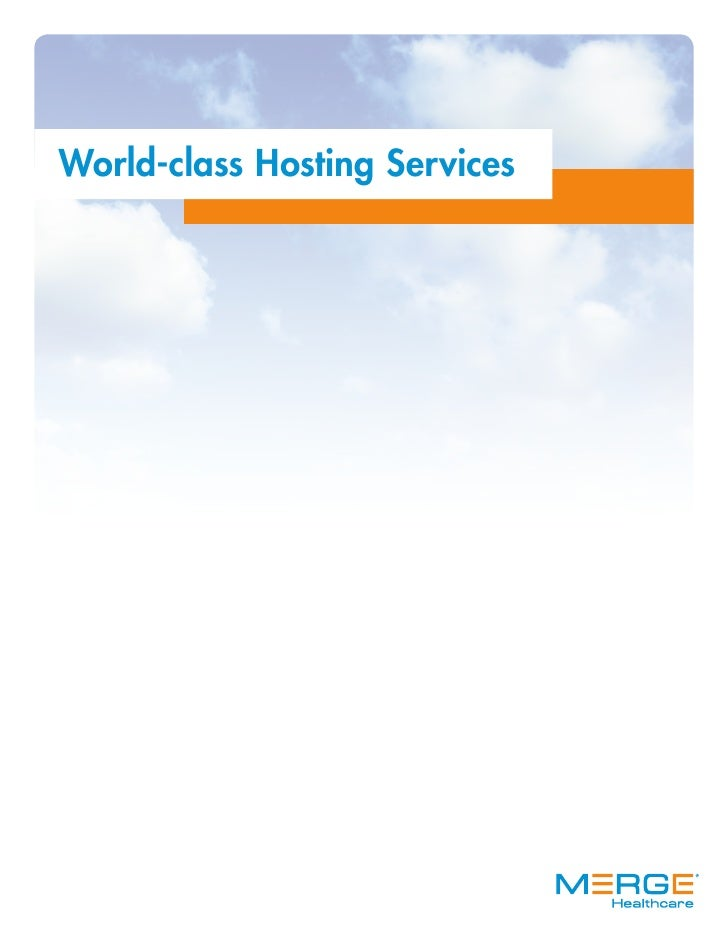 World-class Hosting Services