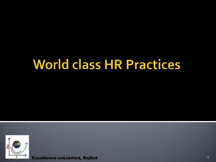 World Class Hr Practices