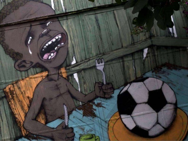 World Cup: Themed graffiti on the streets of Brazil