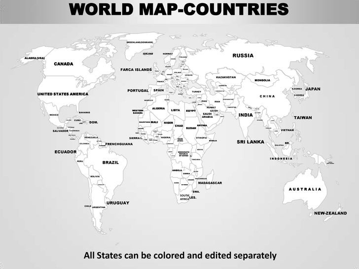 Editable world map with country names world map continents and countries labeled 4092165 ilugcalinfo gumiabroncs Choice Image