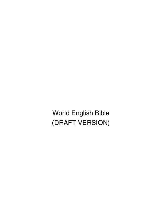 World English Bible (DRAFT VERSION)