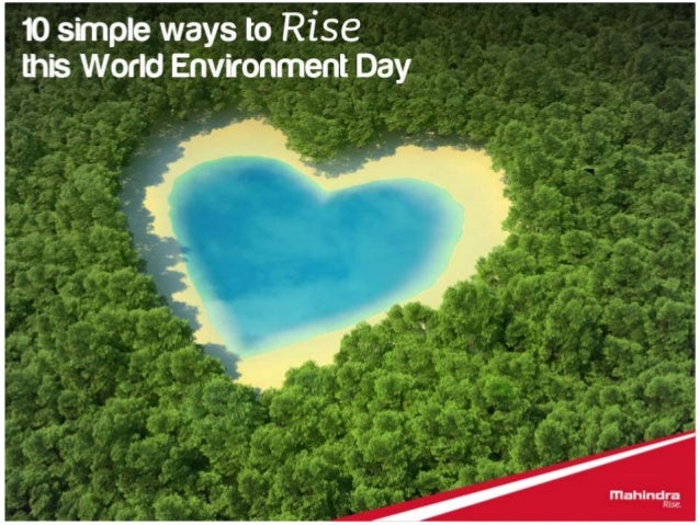 10 ways you can Rise this World Environment Day