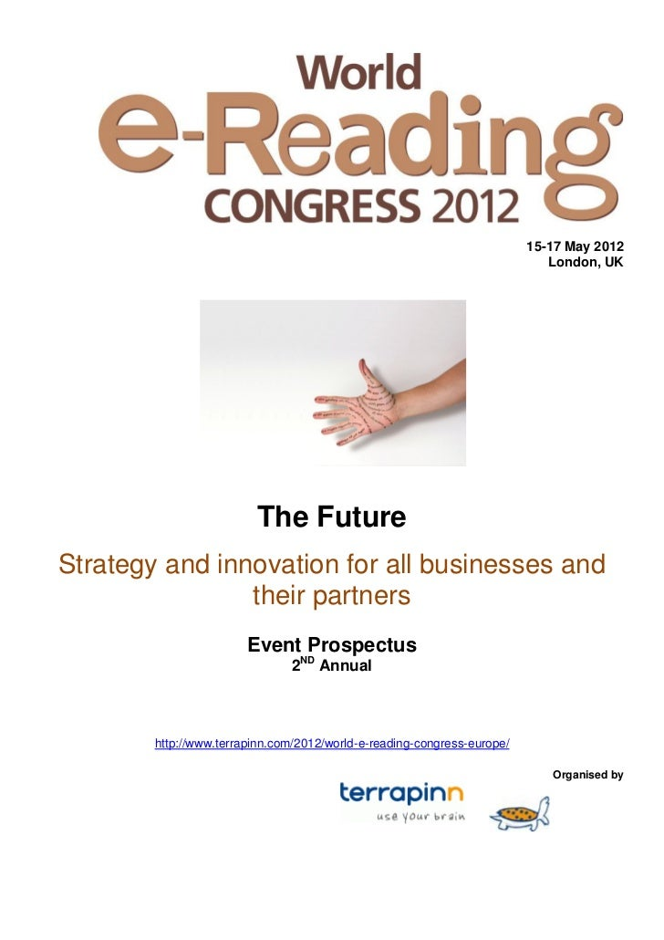 World E Reading Congress Info Pack 2012
