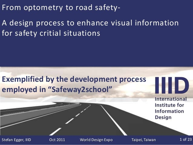From optometry to road safety-A design process to enhance visual informationfor safety critial situationsExemplified by th...