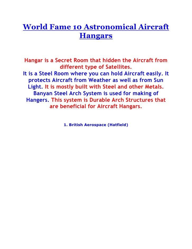 "HYPERLINK ""http://athingforcars.com/autos/world-fame-10-astronomical-aircraft-hangars/"" o ""World Fame 10 Astronomical Air..."