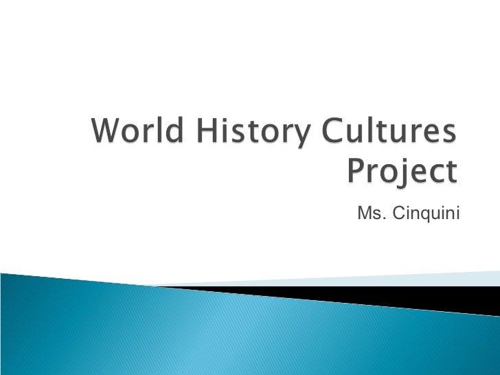 World history cultures cinquini