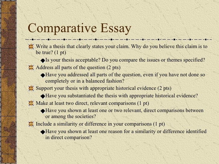 Ap world comparative essay questions