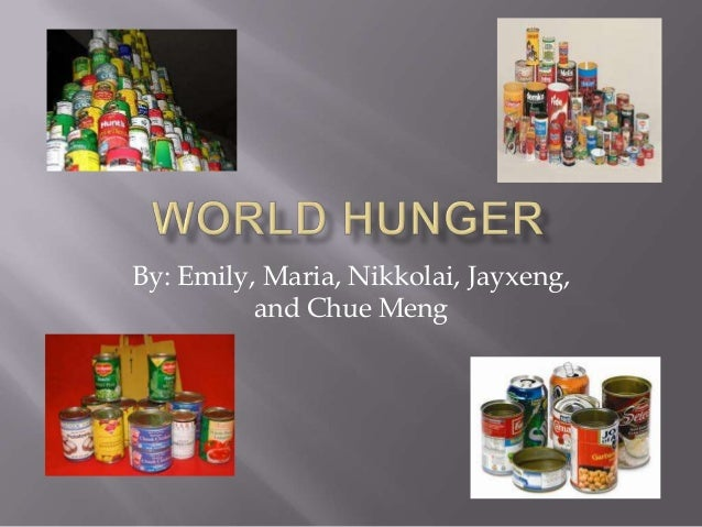 IB Exhibition Topic: World Hunger- Rm 21