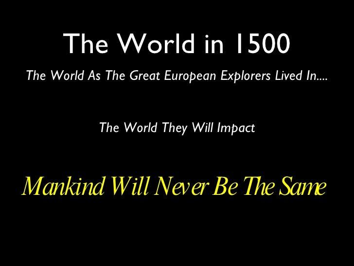 World in 1500 details 5 empires
