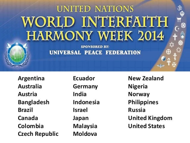 Interfaith Harmony Week 2014