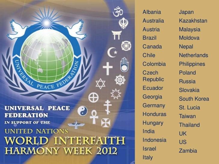 Interfaith Harmony Week 2012