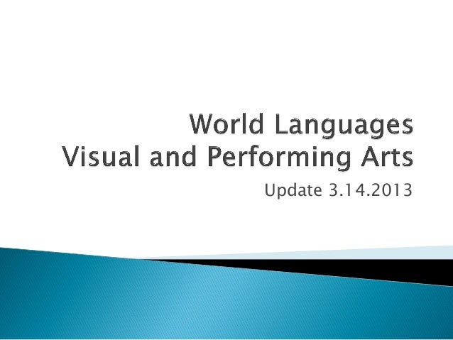 World languages and vapa update 3 6 2013rv
