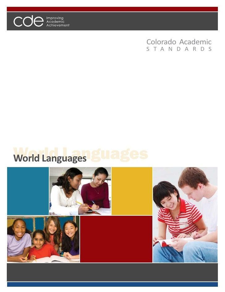 Colorado World Languages Academic Standards 2010