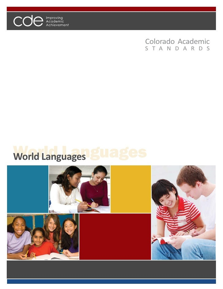 Colorado World Languages Academic Standards 2010