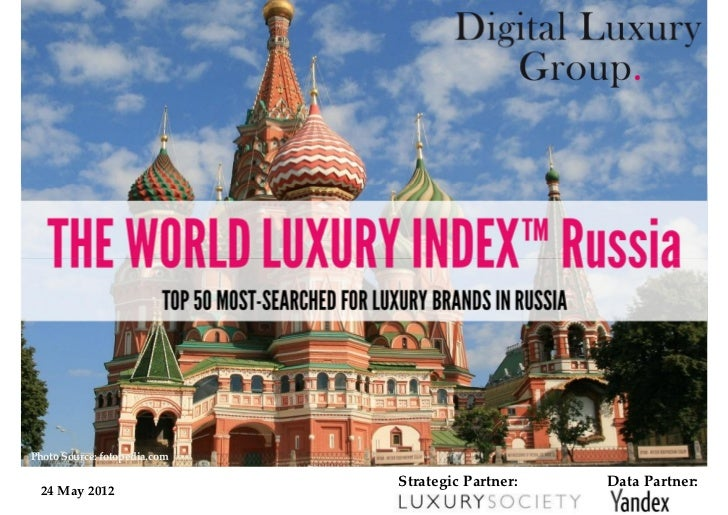 World Luxury Index Russia - Top 50 Most-Searched For Luxury Brands in Russia