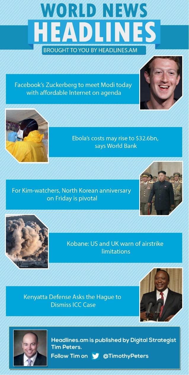 WORLD NEWS - OCTOBER 9, 2014