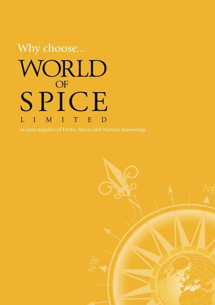 World Of Spice Company Profile