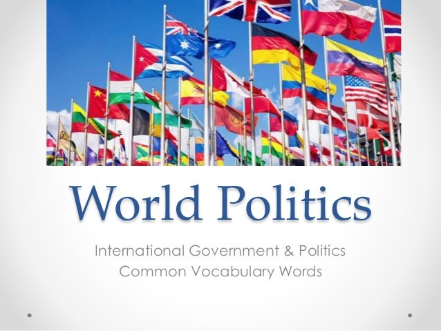 world politics The world's leading open access website for students and scholars of international politics.