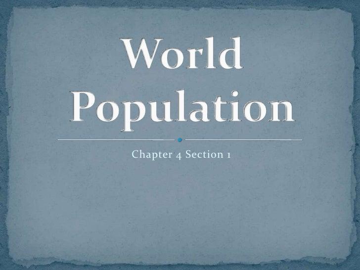 World population 4.1