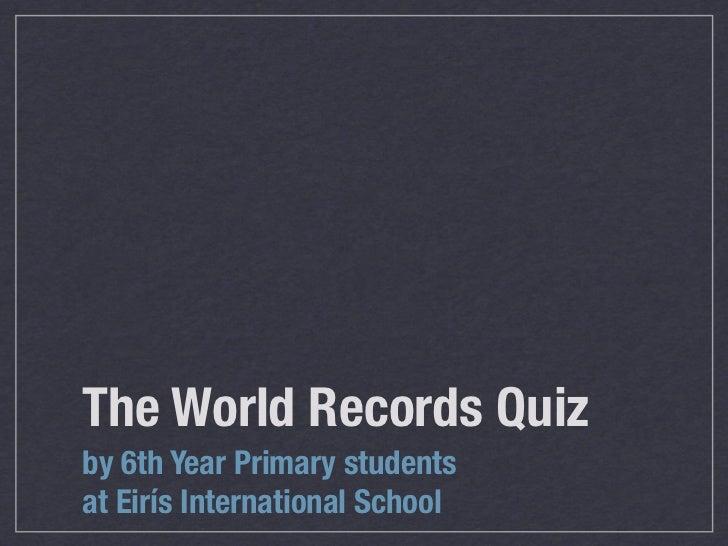 World Records Quiz