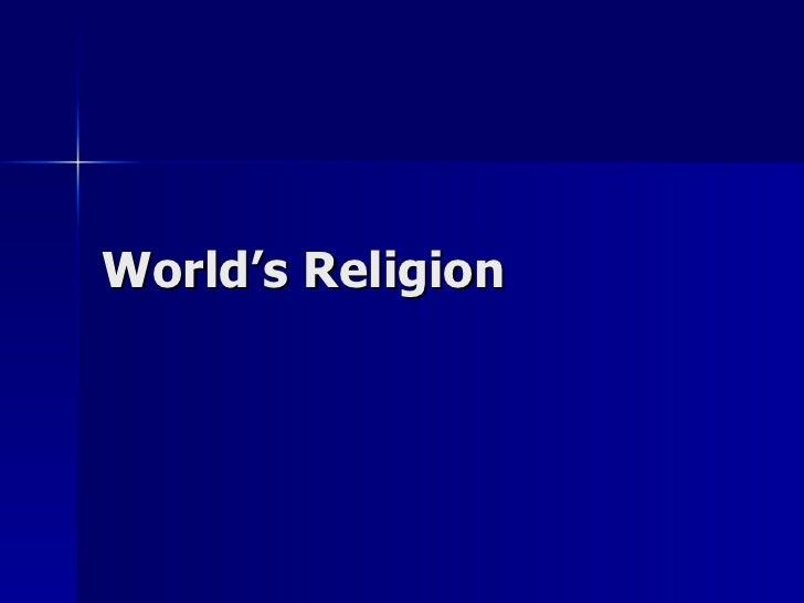 World'S Religion