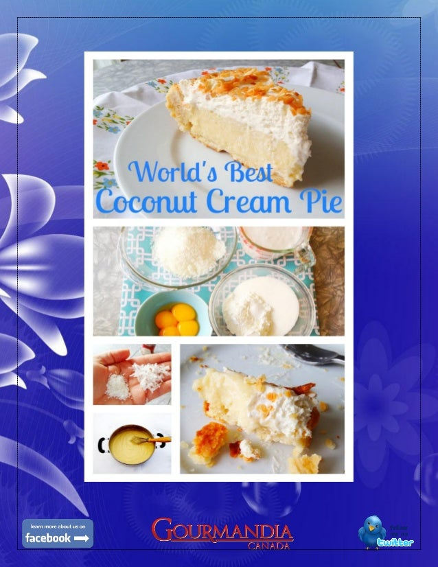 This is the world's best coconut cream pie recipe ever. I've perfected thisgourmet food recipe over the past decade until ...