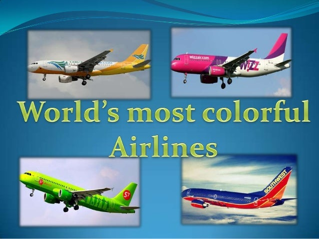 World's most colorful airlines